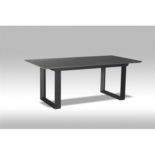 Marlo spisebord 98 x 195 / 255 cm grå og sort keramisk topplade inkl. 1 tillægsplade.