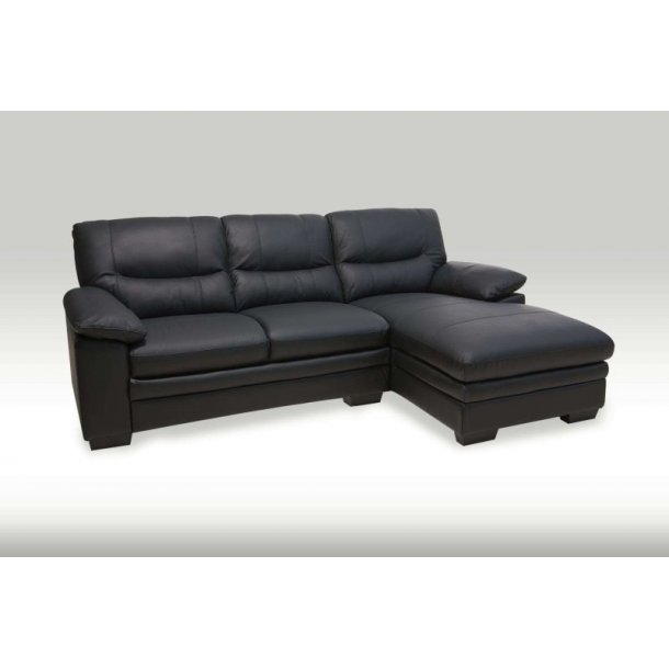 Ypperlig Mosh sjeselong sofa høyrevendt svart skinn. Bestill her. KK-09
