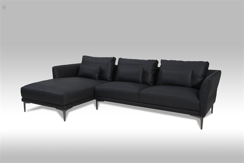 barly sofa links gewendetes chaiselongsofa in schwarzen bonded leder bestellen sie hier. Black Bedroom Furniture Sets. Home Design Ideas