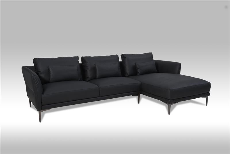 barly sofa rechts gewendetes chaiselongsofa in schwarzen bonded leder bestellen sie hier. Black Bedroom Furniture Sets. Home Design Ideas