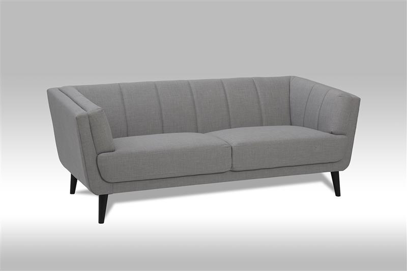 veris 3 personen sofa in grauen stoff bestellen sie hier. Black Bedroom Furniture Sets. Home Design Ideas