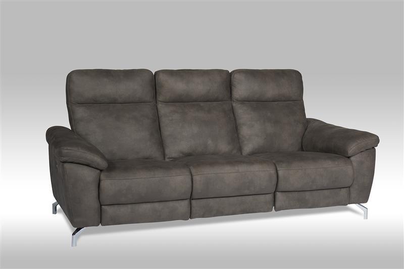 Sena 3 Personen Sofa mit Motor in braunen Stoff  Bestellen ...
