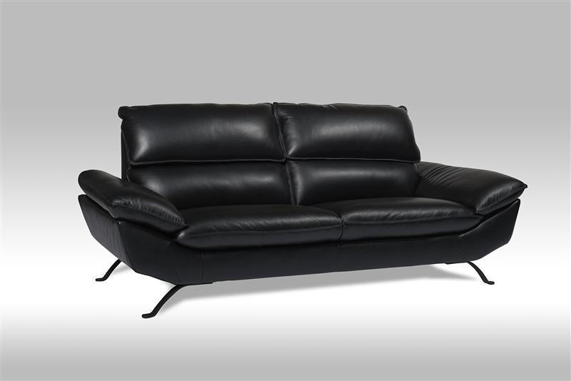 ariel 3 personen sofa in echten leder schwarz bestellen sie hier. Black Bedroom Furniture Sets. Home Design Ideas