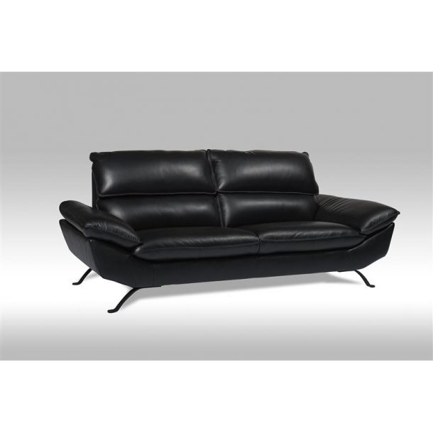 Ariel sofa 3 personers i sort ægte læder.