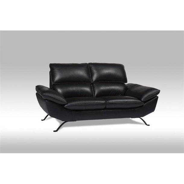 Ariel sofa 2 personers i sort ægte læder.
