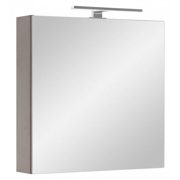 Speilskap Athena 60 cm til baderommet i Wenge dekor inkl. LED lys. FERDIG MONTERT