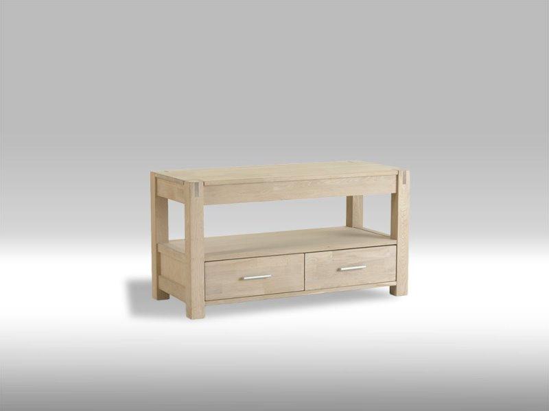 tolle tv tisch mit 2 schubladen in seife behandelter eiche bestellen sie hier. Black Bedroom Furniture Sets. Home Design Ideas
