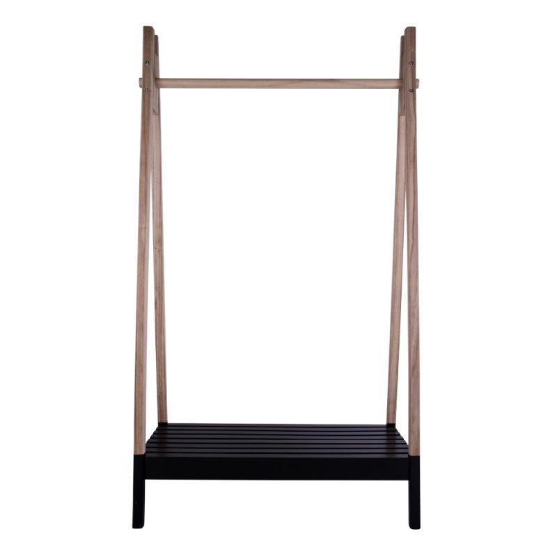 tommy kleiderst nder mit kleiderstange und ablage in natur und schwarz bestellen sie hier. Black Bedroom Furniture Sets. Home Design Ideas