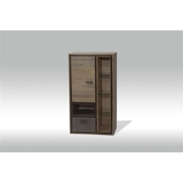 marla wandvitrine zum aufh ngen an der wand in braun grau. Black Bedroom Furniture Sets. Home Design Ideas