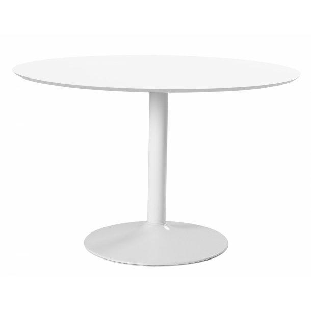 Ibiza spisebord Ø110 cm i hvid.