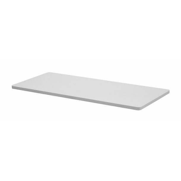 Liss tillægsplade bredde 45 x 90 cm hvid HPL.