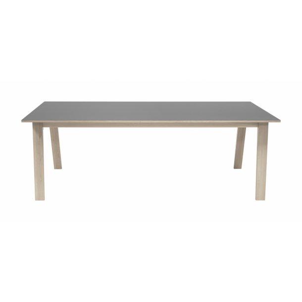 Revolve spisebord 100 x 220 cm i grå HPL og eg.