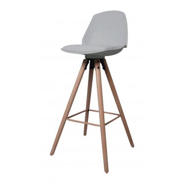 Ozon barstol i grå PU kunstlæder.
