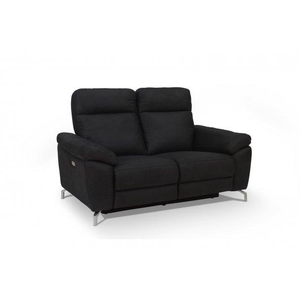 Sena sofa recliner 2 personers i sort stof.