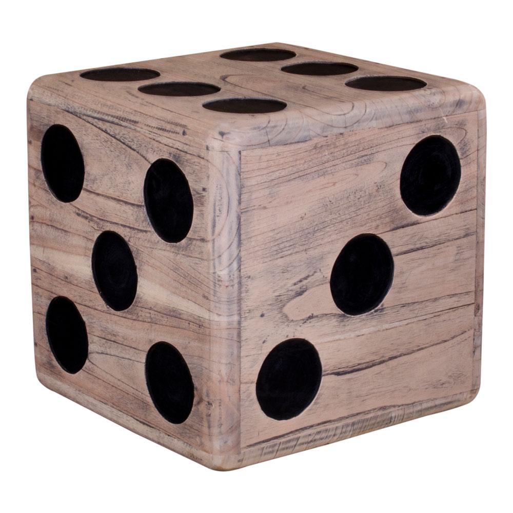 Coos skammel, hjørnebord udformet som en terning i naturligt træ.