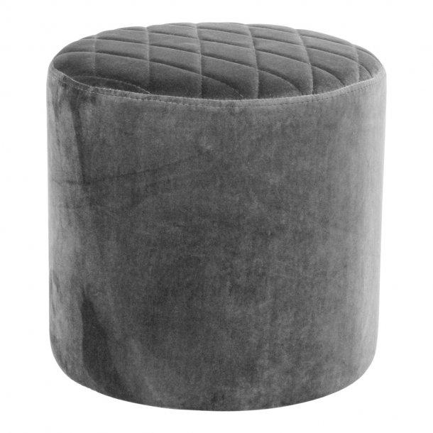Ejstrup fodskammel i grå velour.