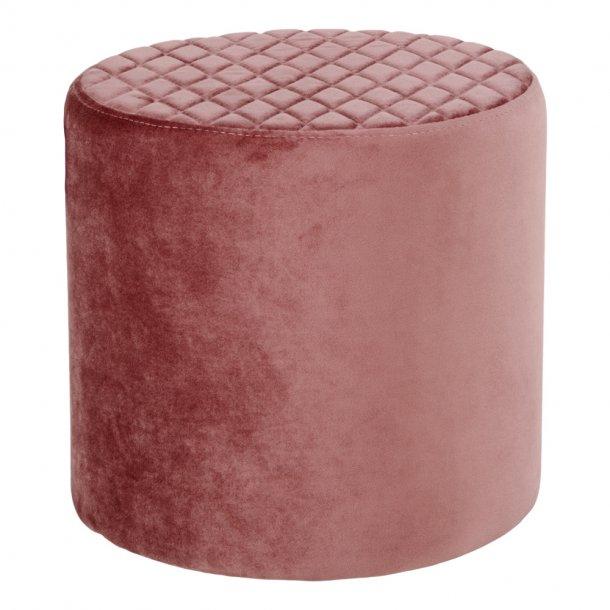 Ejstrup fodskammel rosa Velour.