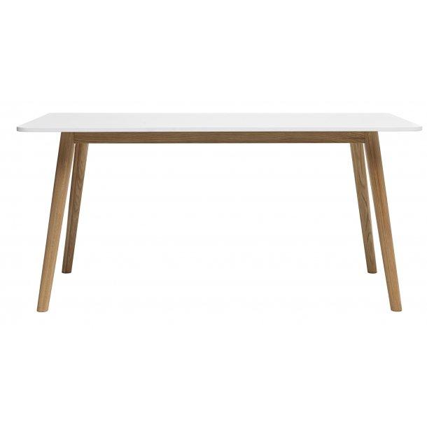 Tula spisebord 90x160 cm i hvid og massiv eg.