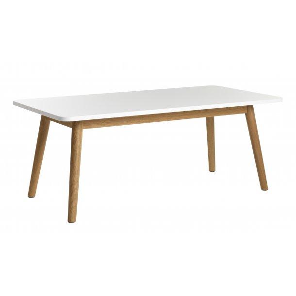 Tula sofabord i hvid, massiv og fineret eg.