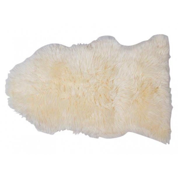 Maui lammeskind 70 x 110 cm i hvid fra New Zealand.