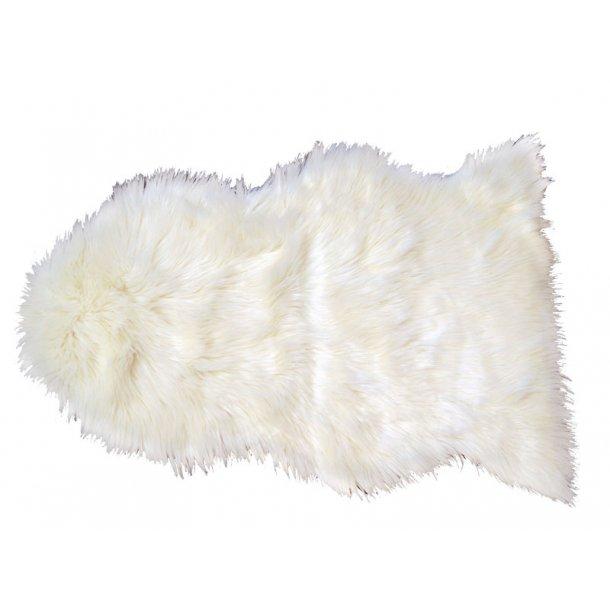 Imme lammeskind 60 x 90 cm i imiteret pels hvid.