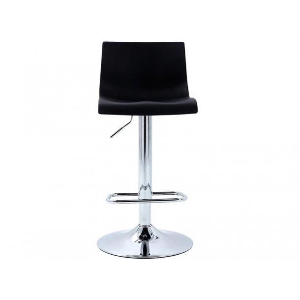 Bardie barstol i sort og krom stel.