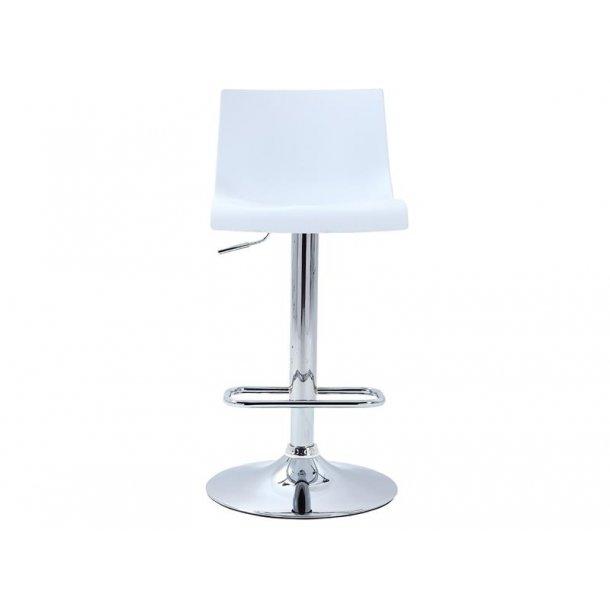 Bardie barstol i hvid og krom stel.