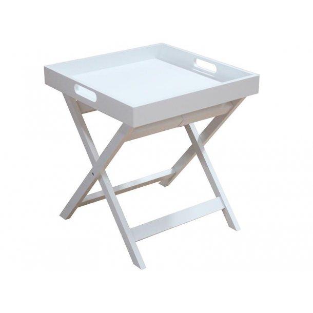 Flame bakkebord i hvid.