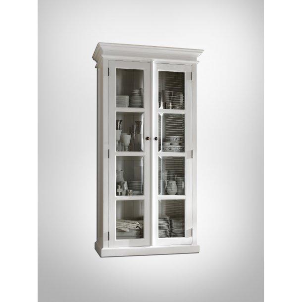 Halifax vitrineskab med 2 glaslåger hvid.