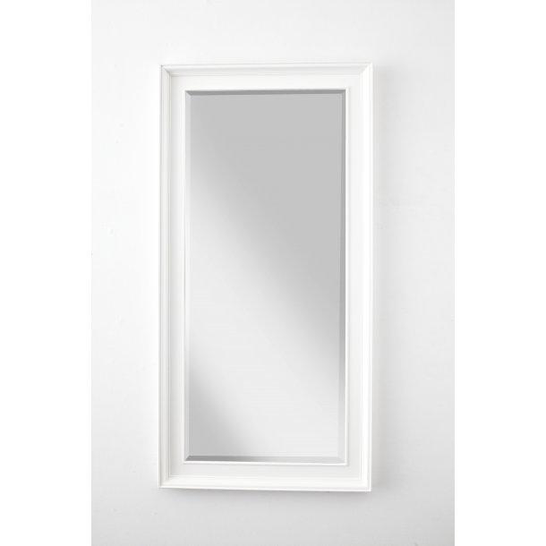 Halifax spejl med profil hele vejen rundt hvid.
