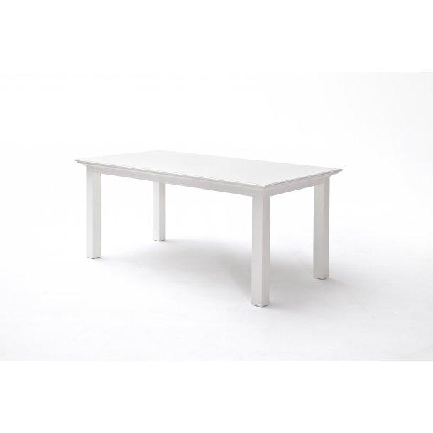 Halifax spisebord 90x180 cm hvid.