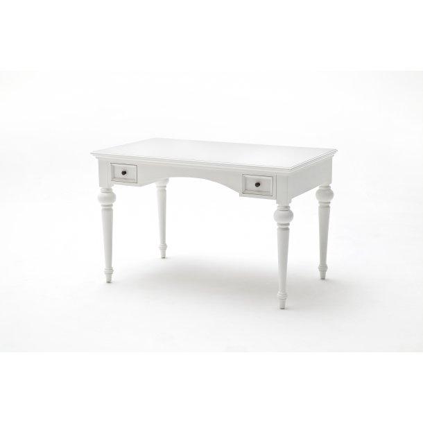 Provence skrivebord med 2 skuffer hvid.