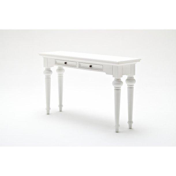 Provence konsolbord med 2 skuffer hvid.