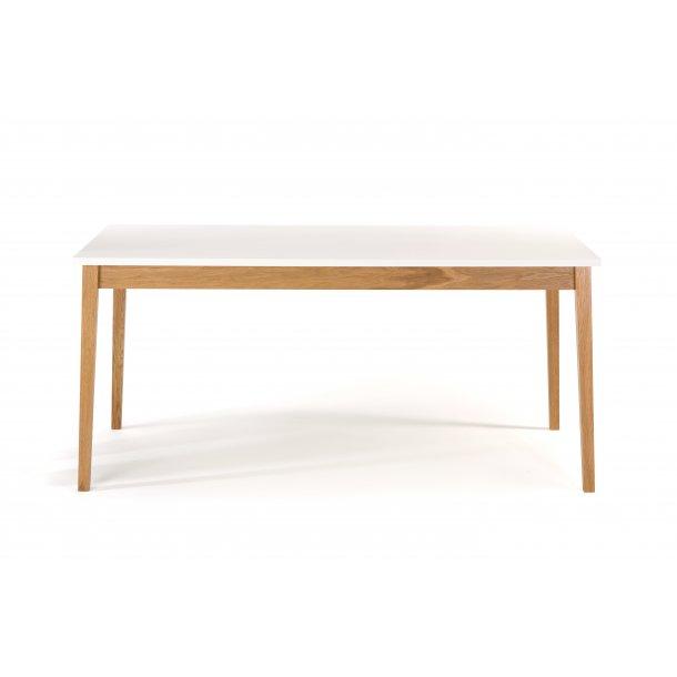 Blance spisebord 90 x 165 cm hvid og ben i massiv eg.