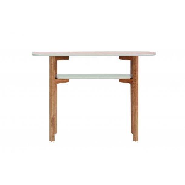 Cecile konsolbord med 1 hylde ege finer, massiv eg og grå.