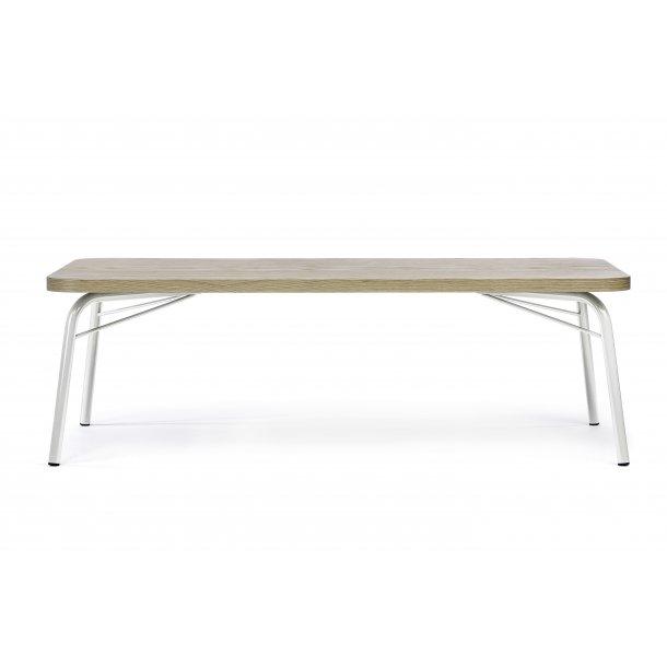 Asine sofabord 65 x 125 cm Ege finer og metal hvid.