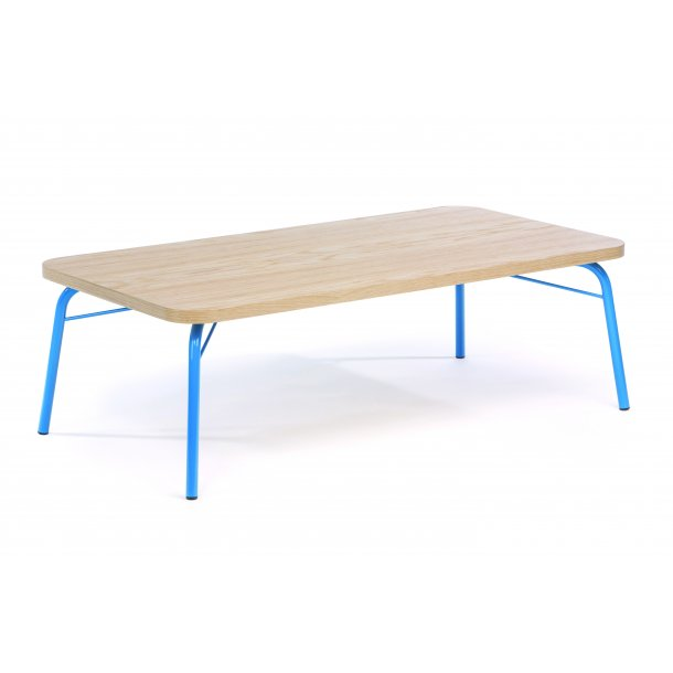 Asine sofabord 65 x 125 cm Ege finer og metal blå.