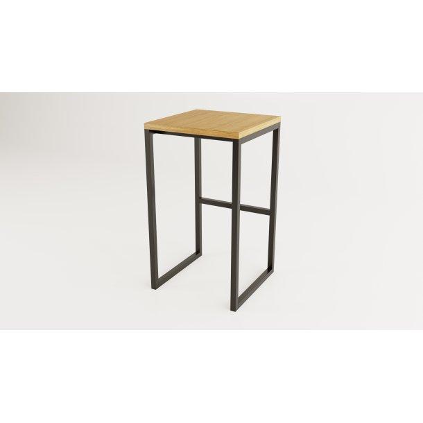 Frank spisestuestol til skrivebord højde 92 cm sort og eg.