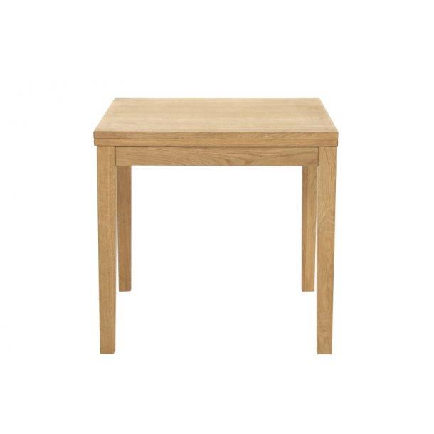 Jack spisebord som klapbord 80 x 80 til 160 cm i ege finer.