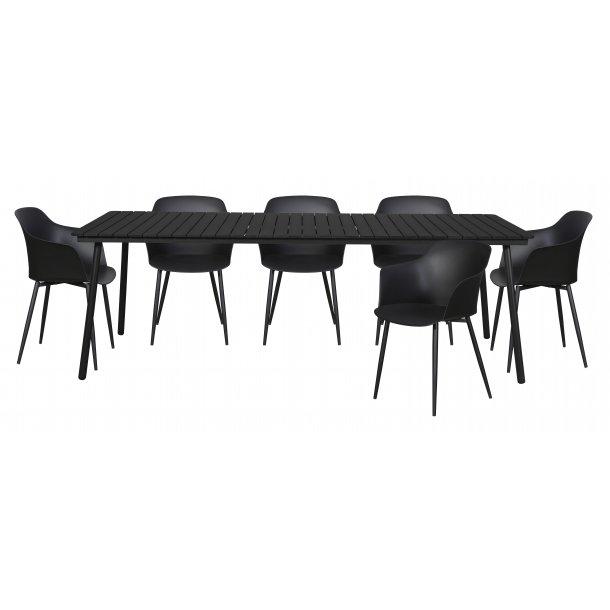 Gell havemøbelsæt 1 bord og 6 stole.