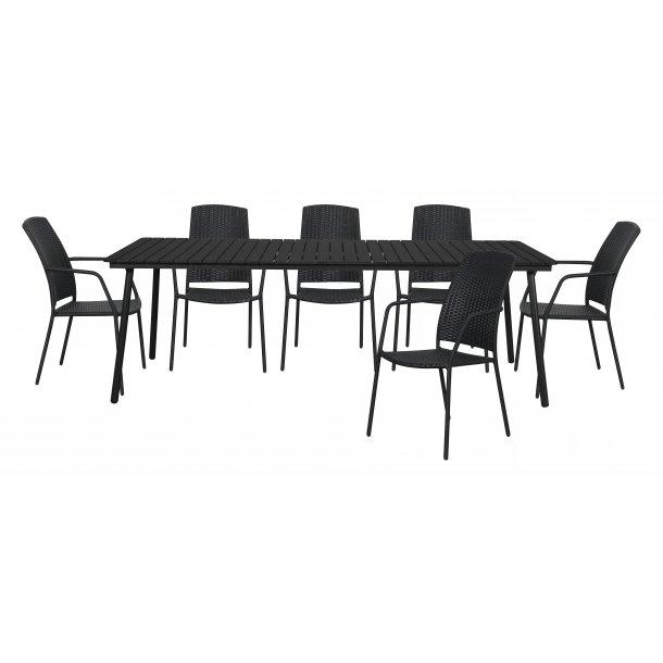 Gell Gartenmobel Set 1 Tisch Und 6 Stuhle