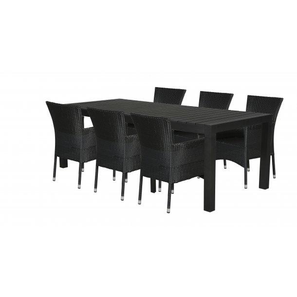 Grup Gartenmobel Set 1 Tisch Und 6 Stuhle