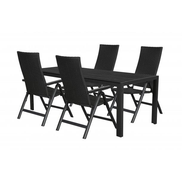 Fuccy Gartenmobel Set 1 Tisch Und 4 Stuhle Bestellen Sie Hier