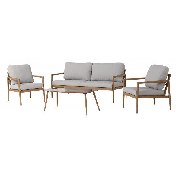 Kerry loungemøbel sofasæt, inkl. hynder natur/beige.