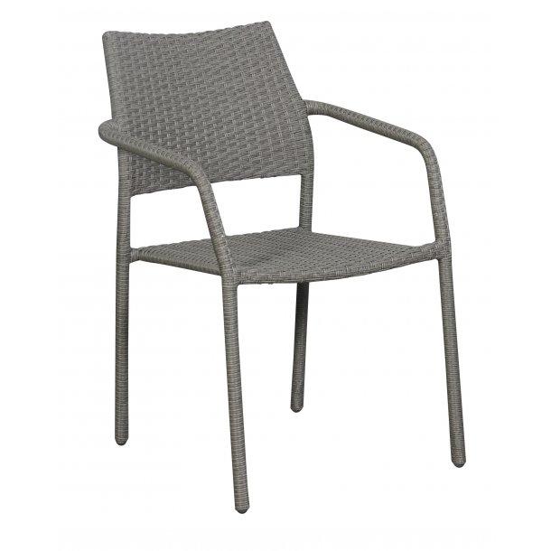 Krar 1 x havestol, stabelstol, grå.