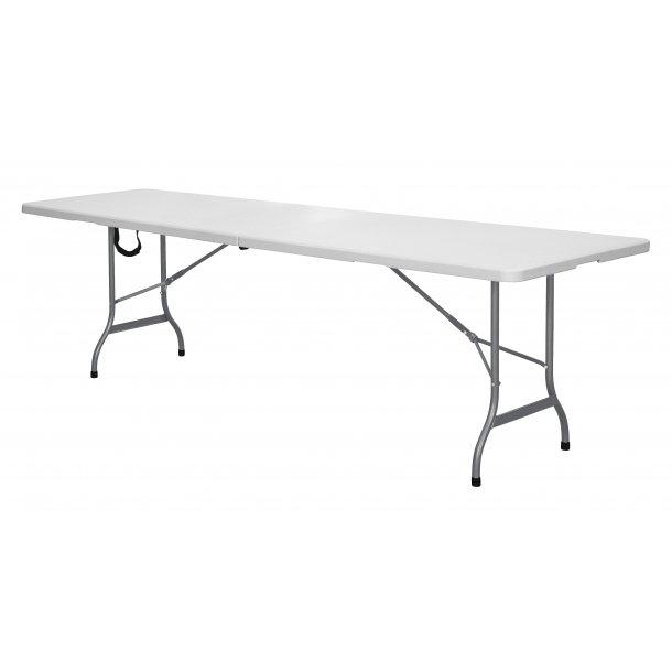 Fie klapbord , foldbar 240X70 cm grå/hvid.