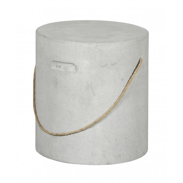 Kirse havestol, skammel Ø37 cm beton.