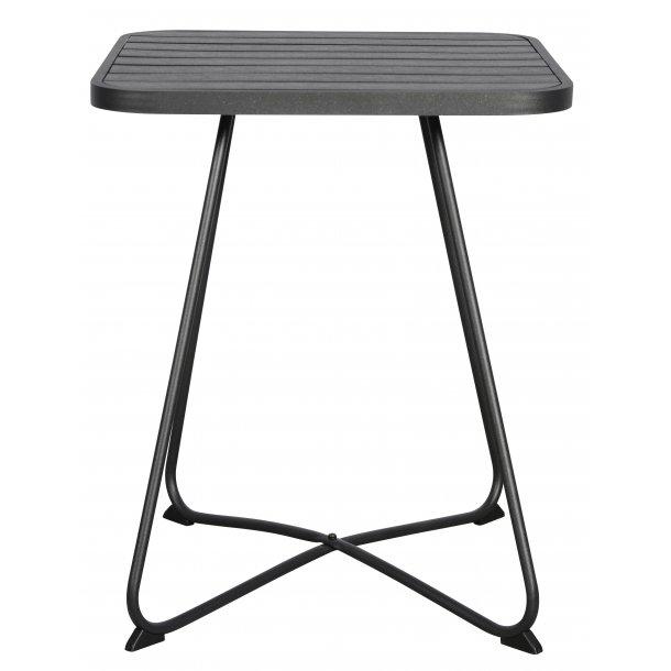 Annie cafe-og altanmøbel cafebord, Ø58 cm sort/sort.