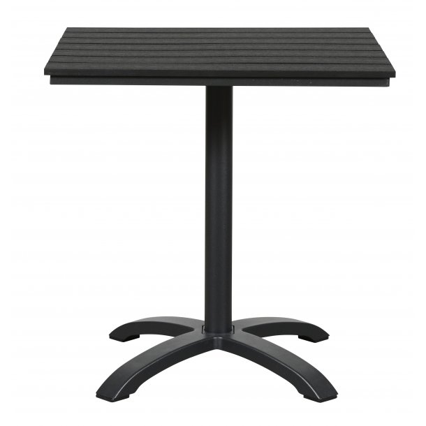 Allie cafe-og altanmøbel cafebord, Ø70 cm sort/sort.