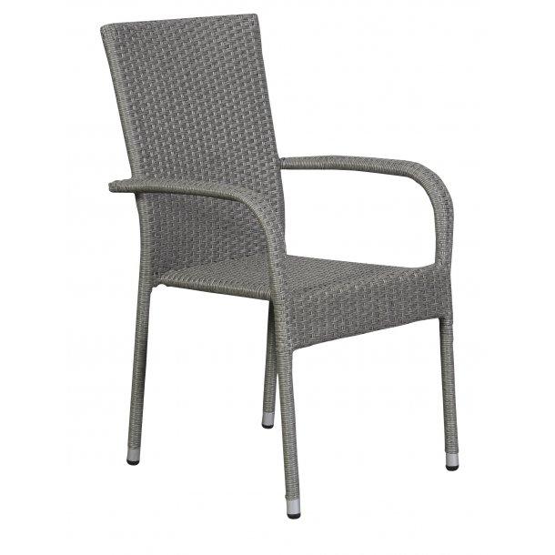 Hansi 1 x havestol, stabelstol, grå.